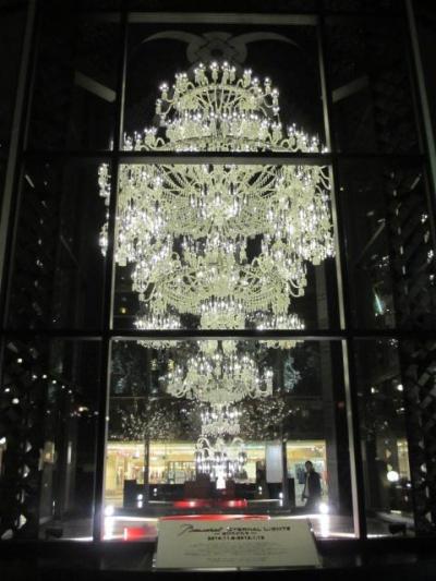 2014年 恵比須ガーデンプレイス バカラのシャンデリアを見に行きました。