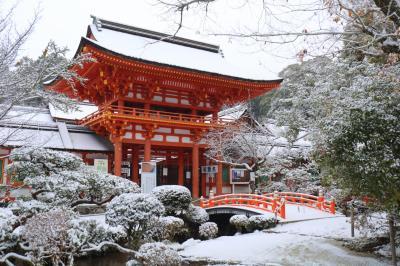 京都を歩く(218) 上賀茂神社雪景色