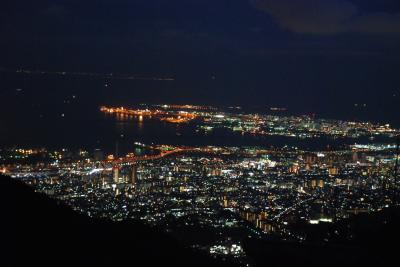 東海道線からの車窓と六甲山夜景を満喫する旅(神戸)