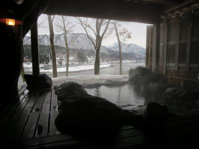 絶景の雪見露天。麒麟山温泉 雪つばきの宿 古澤屋に宿泊