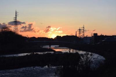 富士山見ながら朝の散歩 2014.12.05