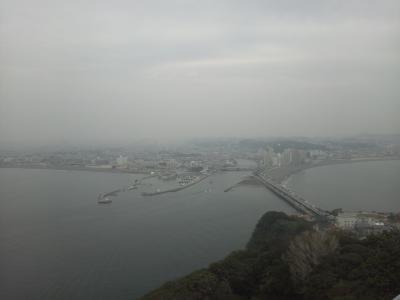 江の島 曇天