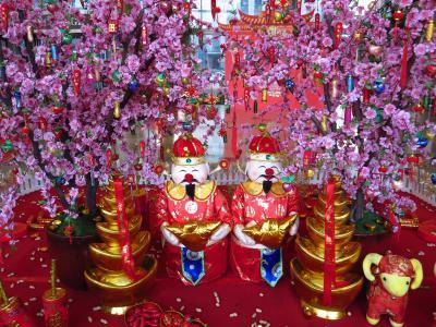 上海★クリスマスが過ぎてすでに旧正月の足あとが♪