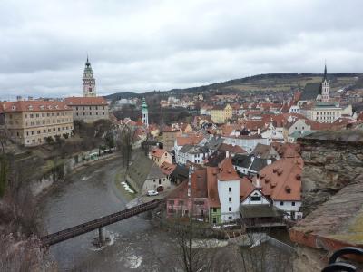 2013年早春の旅【8】ANAビジネスクラスで行く美しき中世の街並みに出会う中欧の旅(中世の趣漂うチェスキー・クルムロフ)