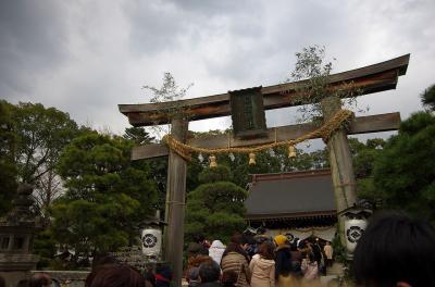 粉雪が舞う中、松蔭神社に初詣に行ってきました