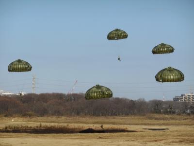 第一空挺団の降下訓練始めに行く2015年編
