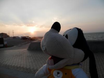 グーちゃん、島原半島へ行く!(小浜温泉の素敵な夕陽!編)