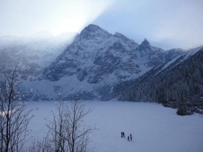 寒い寒いポーランド、冬の山に挑戦