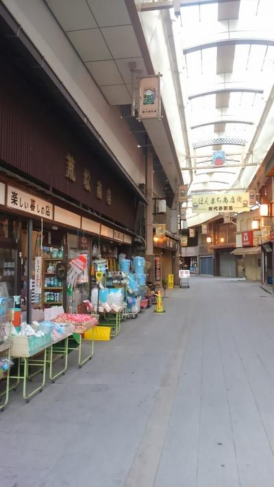 海ぶどうを届けに♪新旧の良さ混じりあう八日市へ。昭和の商店街発見!近江鉄道はいいなぁ♪