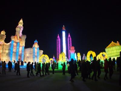 ハルビン旅その4 ライトアップされた彩色の世界 ハルビン氷まつり!