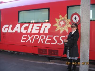 ヨーロッパ 6-(9) 憧れの氷河特急に乗り、ランチを食べ、ブリークまで行きました・・・