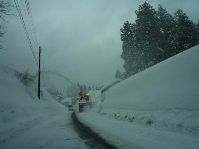 豪雪地帯。(>。<;