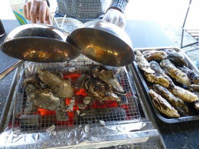 昭和記念公園で牡蠣食べ放題