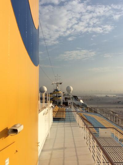 「魅惑のドバイ&アラビアンリゾートクルーズ」一人旅⑥☆コスタセレーナに乗船したけど…長い1日でした^^;