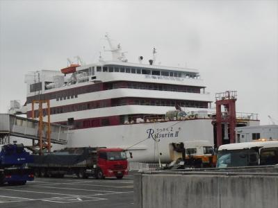 ジャンボフェリーで高松港→神戸港まで。