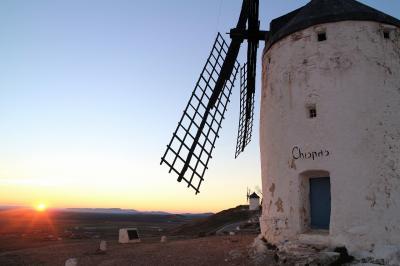 スペイン南部の世界遺産を巡る旅(9) カスティーリャ・ラ・マンチャ、コンスエグラの風車群