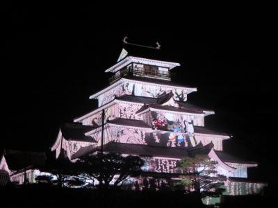 鶴ヶ城プロジェクションマッピング 2015「あかべこものがたり」と、大内宿の旅 その1 プロジェクションマッピング