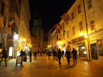 スロバキア 夜のブラチスバ旧市街を散策