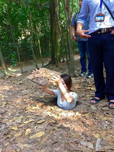 3:ベトナム ゲリラ戦の跡!クチトンネル