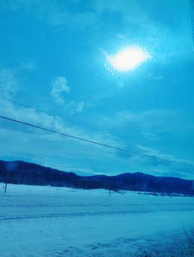 温根湯温泉へ 女満別空港~北見市 雪景色 ☆無料送迎バスに感謝