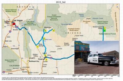 アメリカ・グランドサークルの旅(第6編:ルート66のウィリアムズ,セリグマン,キングマンの町々をめぐる)