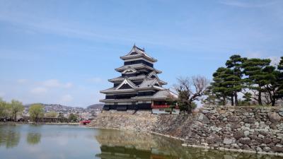 出張ついでに立ち寄った国宝松本城