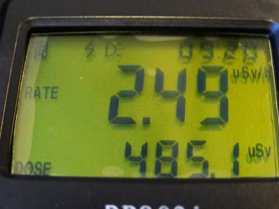 那須高原を越えると放射線レベルが上昇します