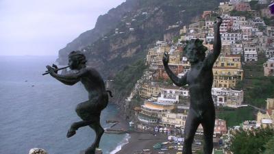 南イタリアとドブロブニク(4) 雨の中、船で隣町のポジターノへ、そしてアマルフィのドゥオモへ・・・