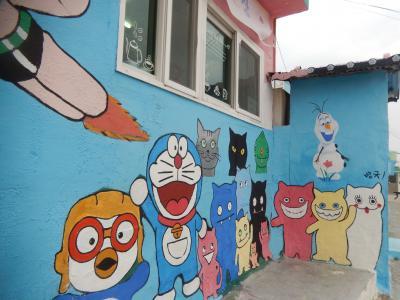 韓国 「行った所・見た所」 統営(セアシデパークとドンピラン壁画村散策)