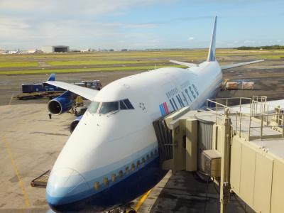 チューリップマークのユナイテッド航空で行くハワイその1