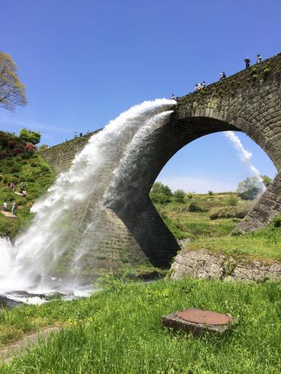 休日ドライブ 通潤橋の放水を見に行こう