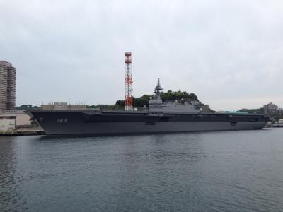 何が何でも日米空母を同時に見るため、横須賀軍港めぐりクルーズに行く