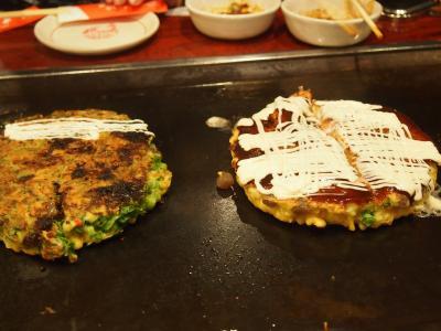 大阪旅行記in 千日前店「ゆかり」のお好み焼きは昭和20年から続く老舗です④
