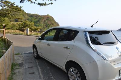 電気自動車、日産リーフのモニターで充電しながら南伊豆・弓ヶ浜へ。下田のとんかつ一は凄かった!