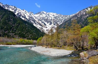 春の訪れを感じながら絶景ハイクの上高地!①ー快晴!河童橋~大正池
