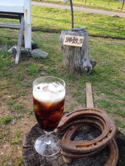 黒い蕎麦とアイスコーヒーと都幾川村