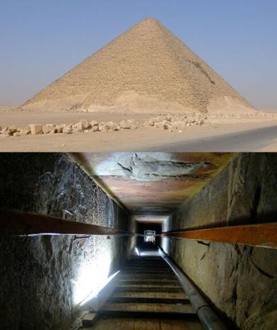 ダフシュール,メンフィス,サッカラ: 太腿痛になったが赤のピラミッド内部に入ったのが一番良かった