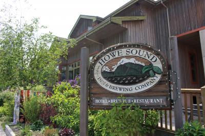 バンクーバーから1泊2日の息抜き旅行、スコーミッシュ 3、ブリュワリーでお食事でも~(Howe Sound Inn & Brewing)
