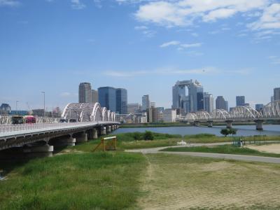 十三大橋~舞洲緑地~城北菖蒲園をチャリで走る