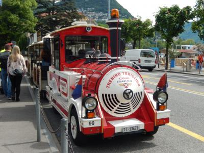 スイス 「行った所・見た所」 ルガーノの湖畔散策と観光ミニ列車乗車