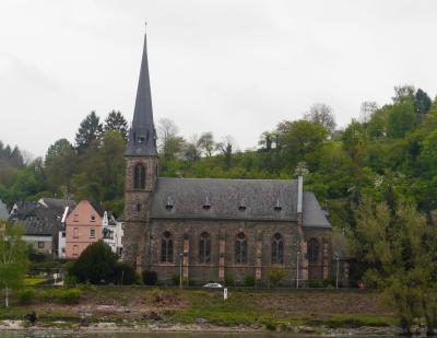 2015.4ライン・アルザス旅行12‐BoppardからFilsenへフェリーで渡る.Filsenの村