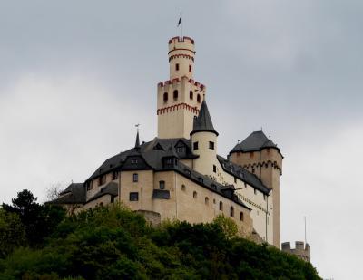 ライン・アルザス旅行13‐BraubachでMarksburg城を垣間見る.Rudesheim経由でFRAへ