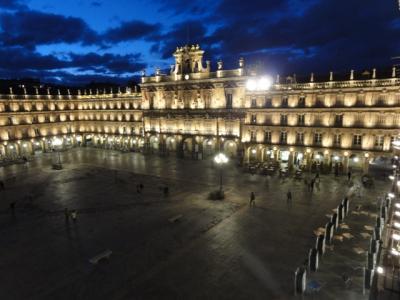 スペインで一番美しい広場を部屋の窓から@サラマンカ