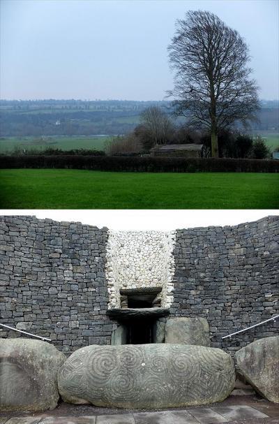 ★アイルランドの史跡巡り −(3)レンスター州 冬至の朝日が墓室を照らすニューグレンジ