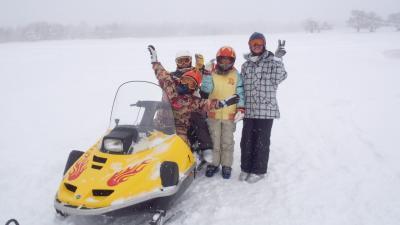 2012年2月18日~19日:今年は3回!! 菅平スキー旅行(3回目) スノモービルに乗車・超特大カレー、そして本州最低気温更新