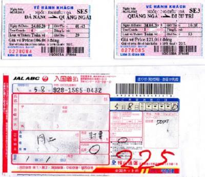未だお会いしていない方に大変お世話になりました。ベトナム統一鉄道の切符購入