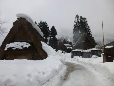 雪の五箇山へ