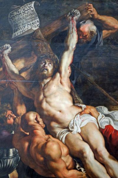 晩春のベルギー旅行(24)アントワープのノートルダム大聖堂でフランダースの犬のネロとパトラッシュを思いながらも、迫力ある絵画を堪能する。