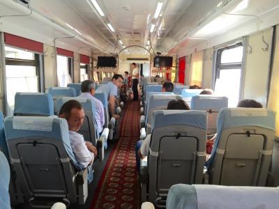 2:ウズベキスタン 特急列車シャルク号でサマルカンドへ