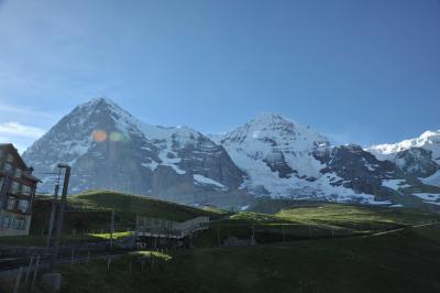 スイス花とハイキングのクライネ・シャイデックからウェンゲンアルプ